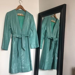VNT leather trench